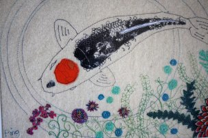 Embroidered fish