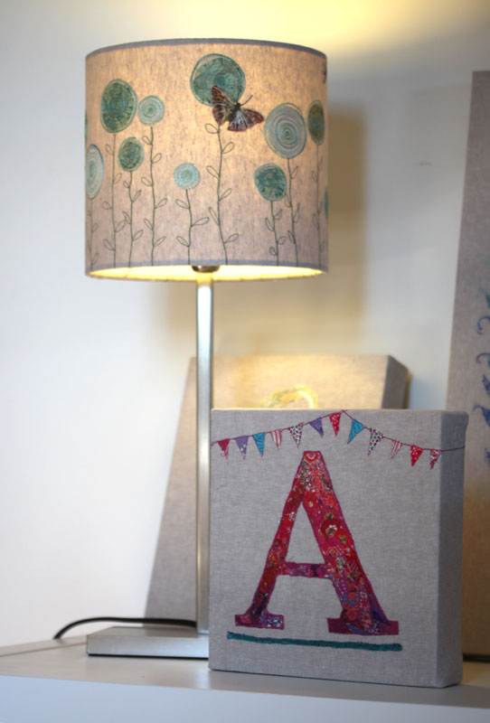 Lampshade and Embroidered Letter