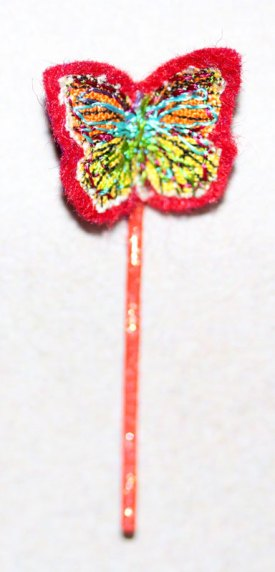 Red Butterfly Hair Clip