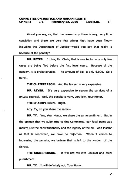 Transcript of Feb. 12 hearing, page 5