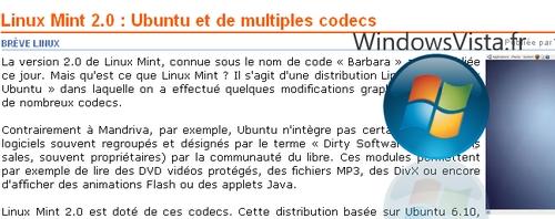 vista sur linux