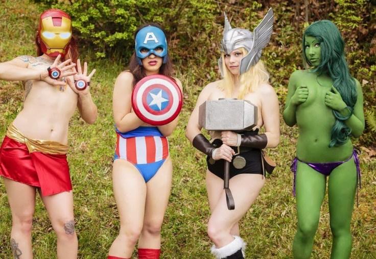Nude Avengers Cosplay