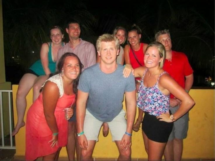 la photo qui tache - photobombing du pied