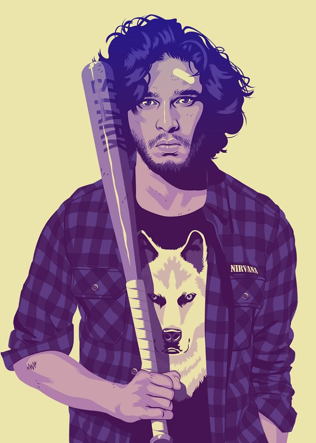RockStar GTA - Game Of Thrones Edition - Jon Snow