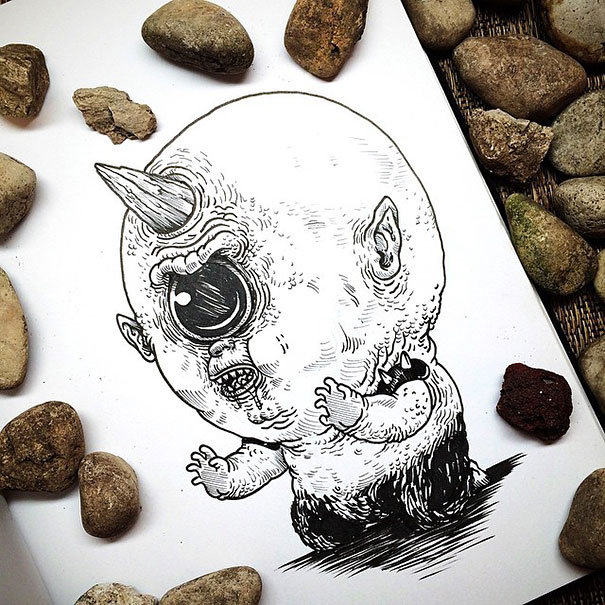 baby-terrors-iconic-horror-monsters-illustrations-alex-solis-22