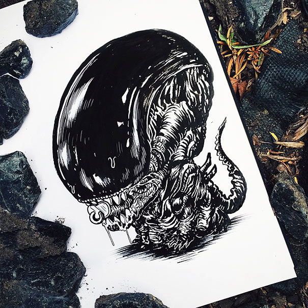 baby-terrors-iconic-horror-monsters-illustrations-alex-solis-30