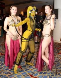 Cosplay Slave Leia Metal Bikini (1)