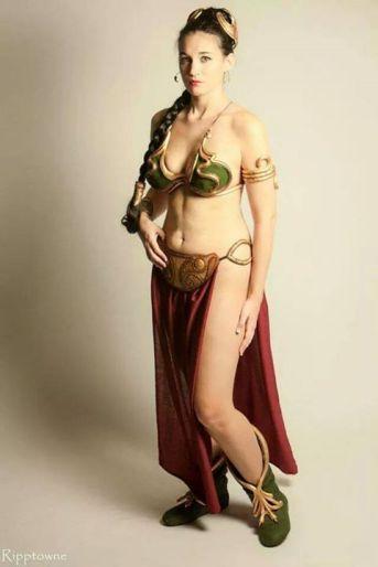 Cosplay Slave Leia Metal Bikini (3)