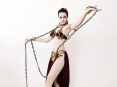 Cosplay Slave Leia Metal Bikini (4)