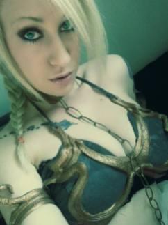 Cosplay Slave Leia Metal Bikini (5)