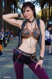 Cosplay Slave Leia Metal Bikini (8)