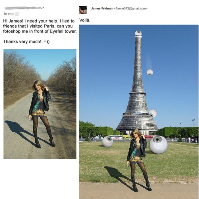 Не просите знакомых отредактировать ваши снимки (11 фото)