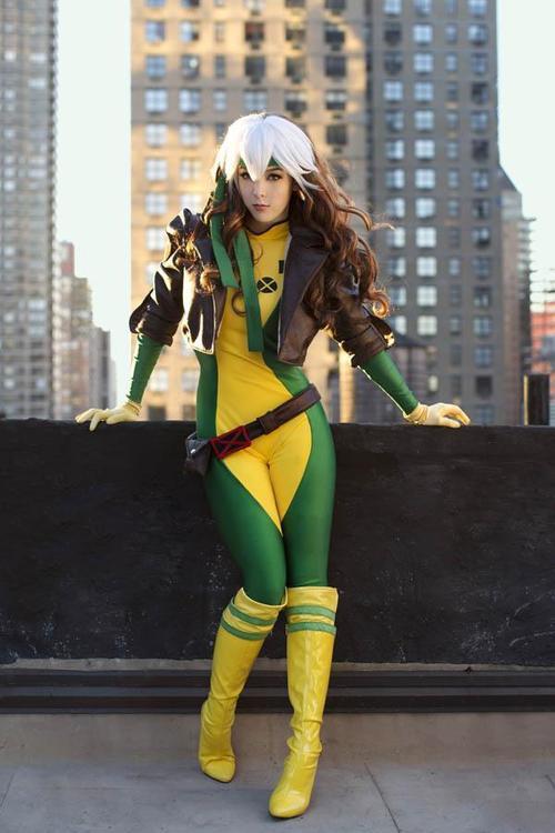 rogue cosplay (malicia xmen) (1)