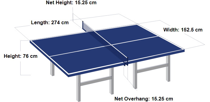 Regulation Sized Table Tennis Table