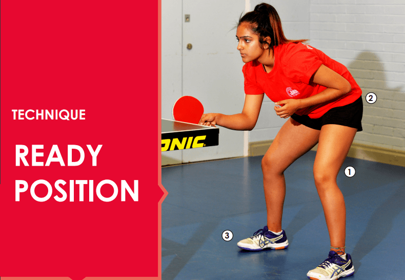 Table Tennis Ready Position Stance