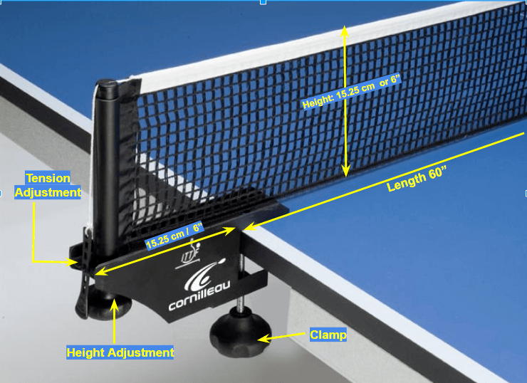 Ping Pong Net Post Specifications