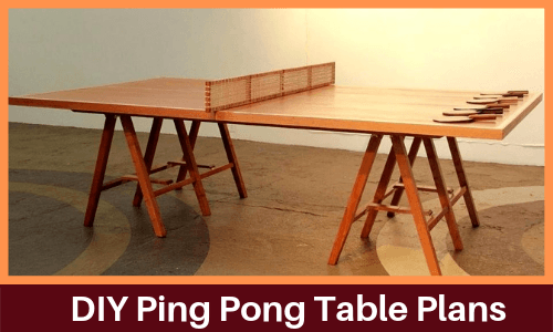 7 Best Homemade Diy Ping Pong Table Plans Ppb - How To Make A Foldable Table Out Of Wood