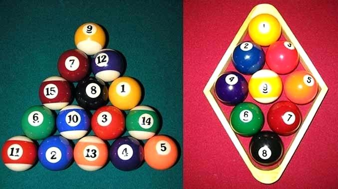 8-Ball Rack Vs, 9-Ball Rack