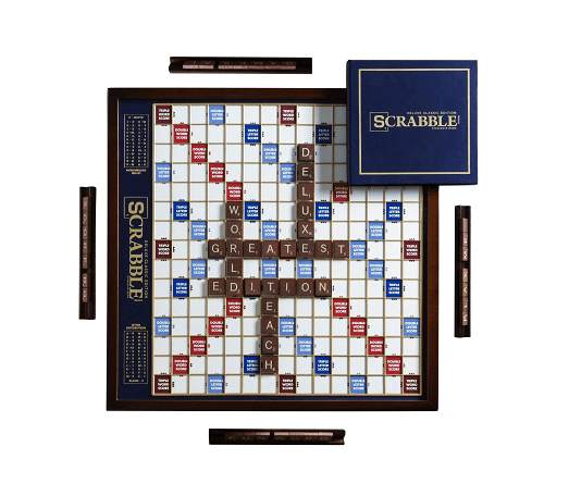 Scrabble Deluxe Edition With Rotating Game Board