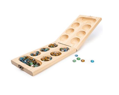 Wooden Folding Mancala Travel Board Game