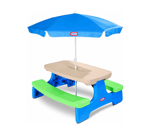 Little Tykes Easy Store Picnic Table With Umbrella