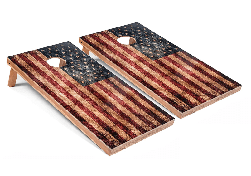 Tailgating Pros Rustic American Flag Cornhole Board