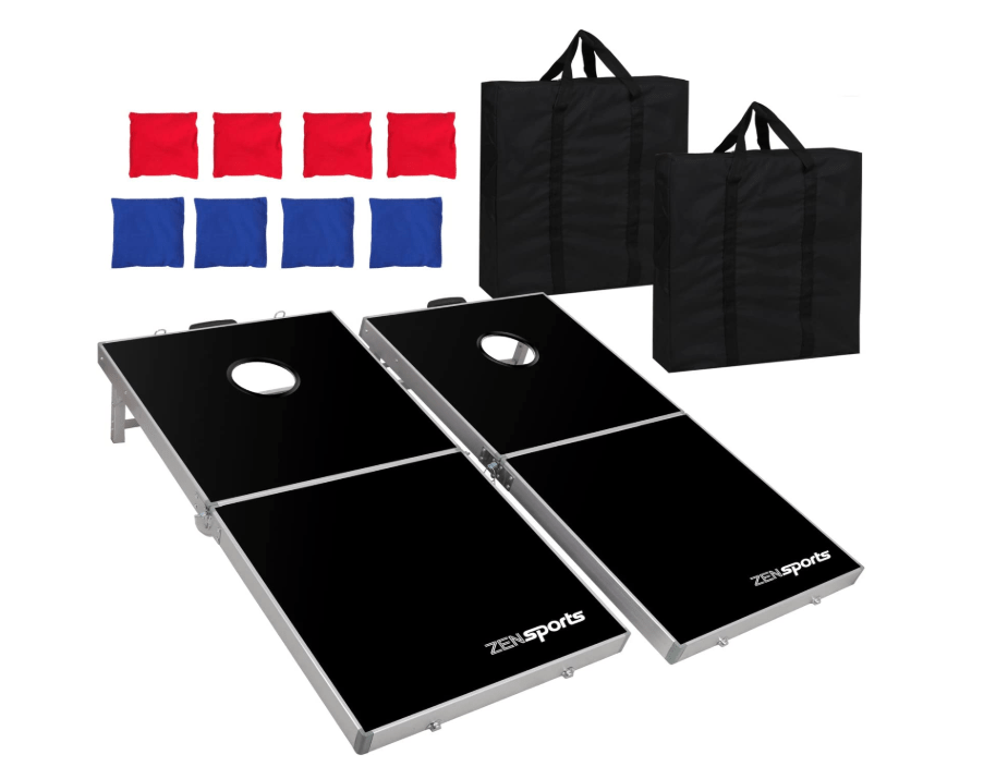 ZENY Portable 4' x 2' Aluminum Foldable Bean Bag Toss Set