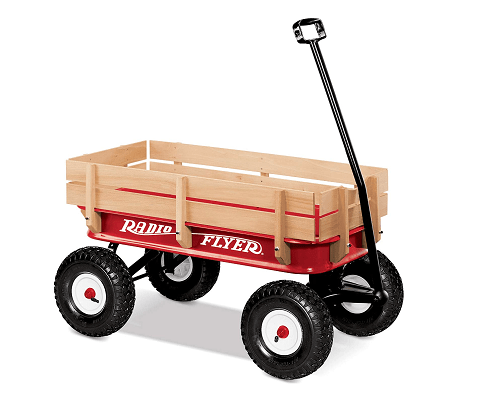 "Radio Flyer 36"" All Terrain Steel And Wood Wagon"