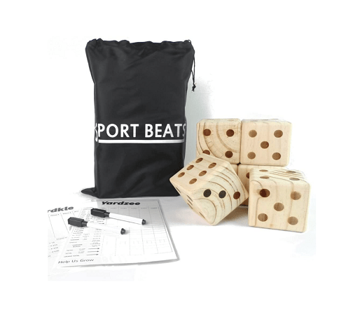 SPORTS BEATS Giant Wooden Yard Dice Set