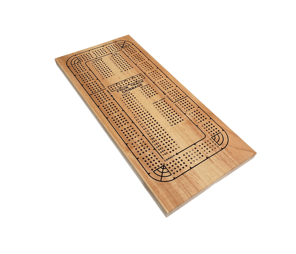 WE Games Classic Wooden Cribbage Board Game