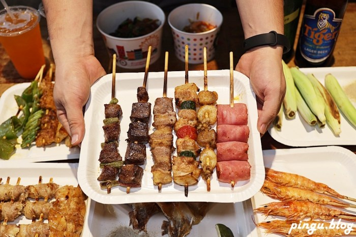 就醬子烤吧彰化民族店|彰化美食燒烤串燒 宵夜新選擇