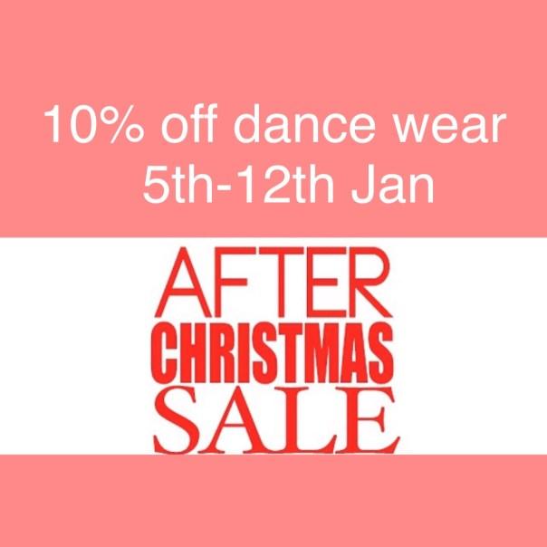 dancewear sale Jan 2015