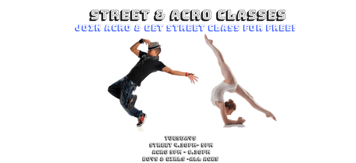 Join Acro & get Street class for FREE! Website