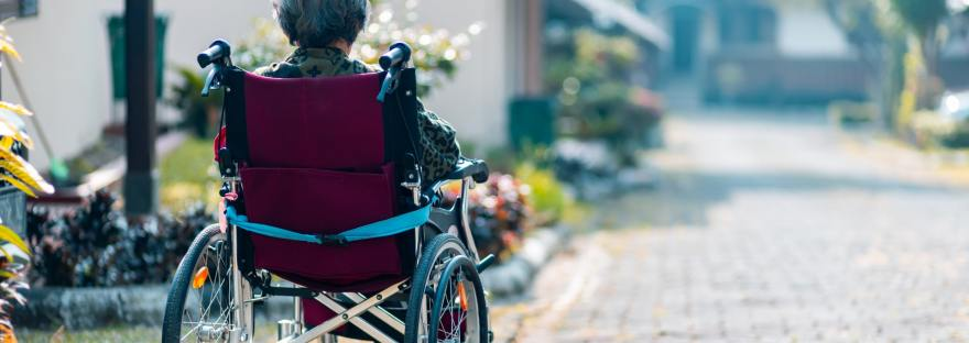 wheelchair disability disabled woman aged ndis