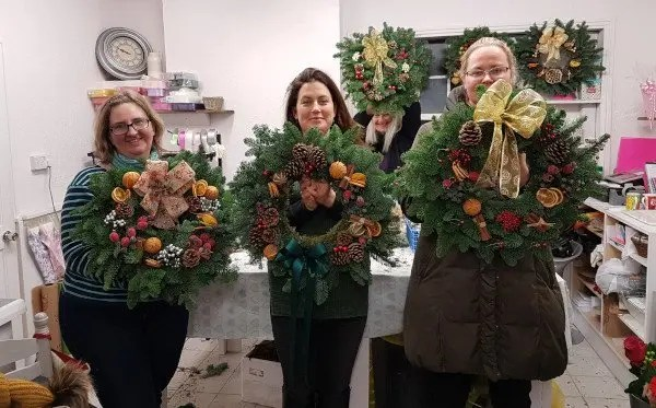 Workshop - Christmas Wreath Making Workshop 2018 at Pink and Perfect Florists
