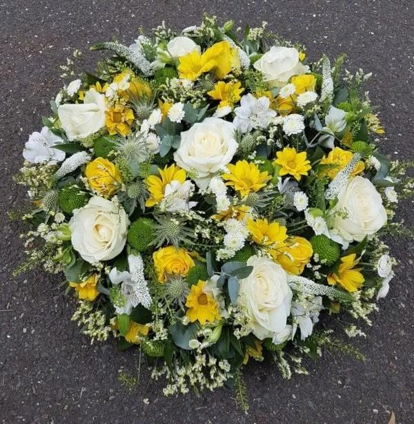 Yellow & White Rose Posy