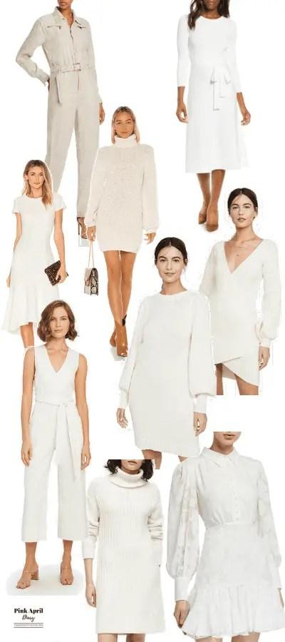 White Dresses & jumpsuit