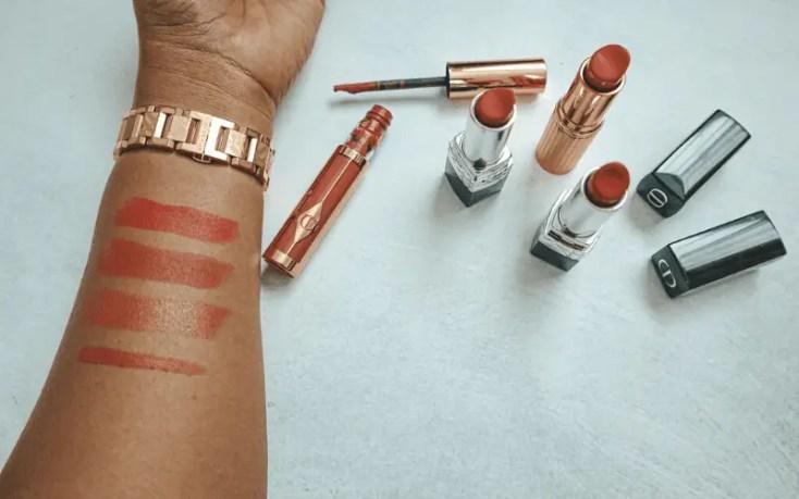 Lipstick swatches
