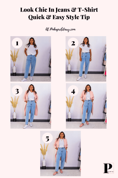 Look Chic In Jeans & T-Shirt-2