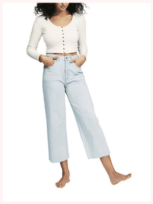 COTTON ON Wide Leg Cropped Jean