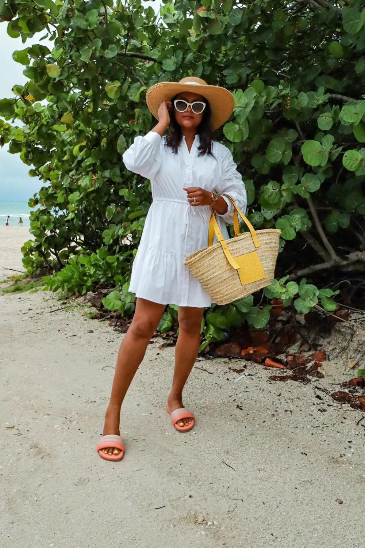 Bikini and Shirt Dress Outfit for Beach Resort