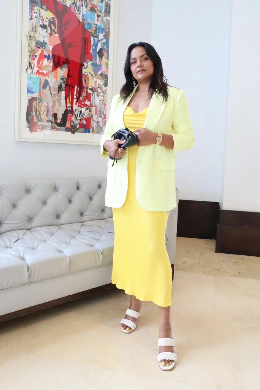 Slip dress and Linen Blazer outfit for Resort