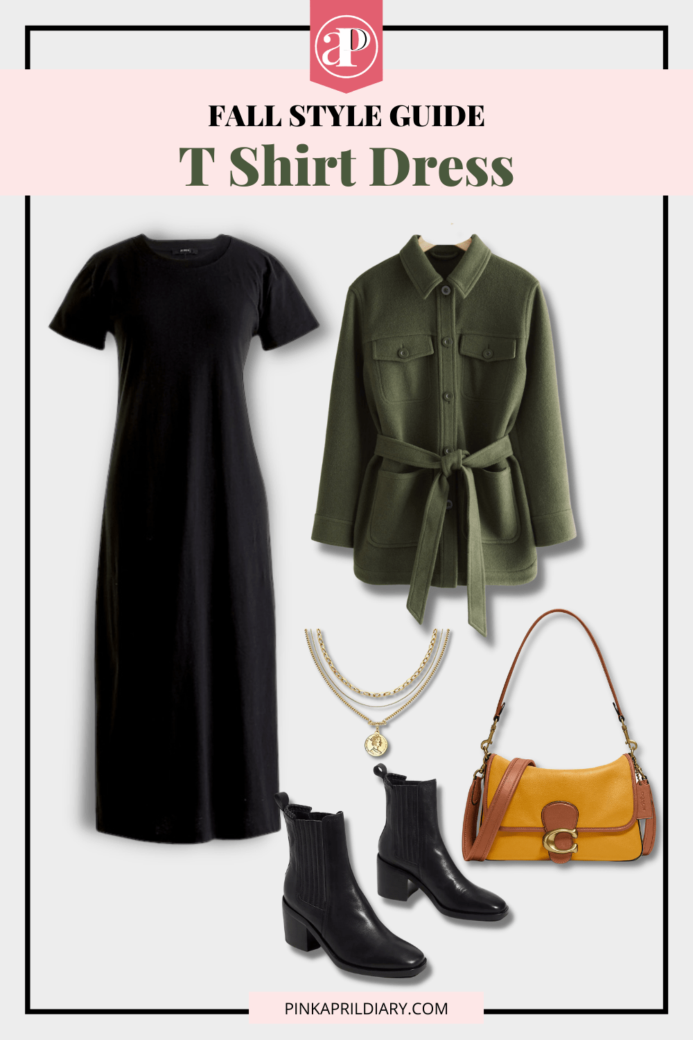 Fall Styling for a T Shirt Dress - outfit 3