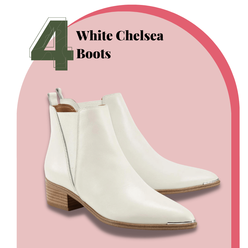 White Chelsea Boots