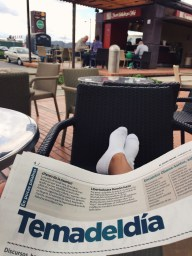 Relaxing with the paper