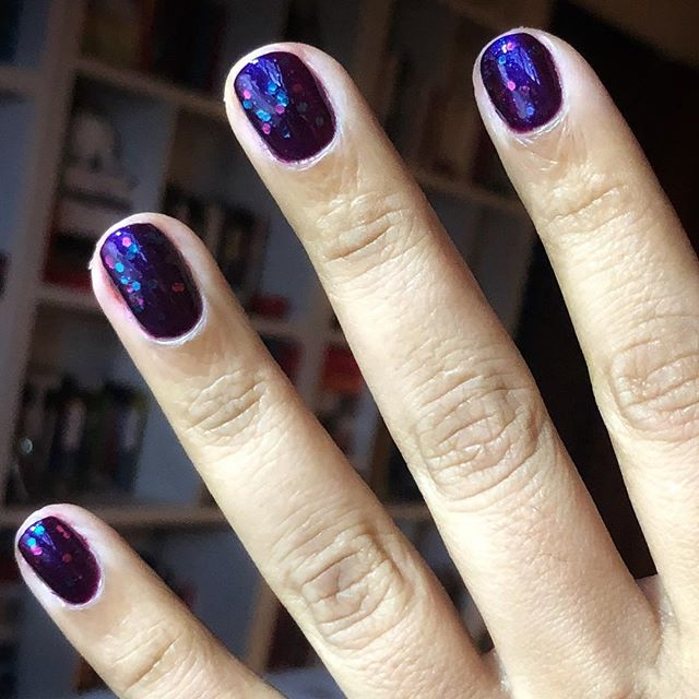 Glitter nail polish #myfavoritethings