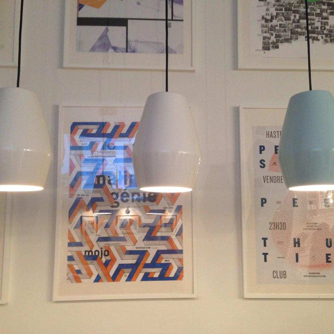 Lampes et affiches Slo Hostel