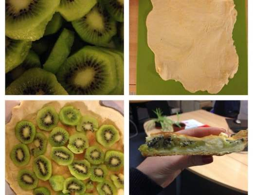 Muffins et tarte kiwi ricotta