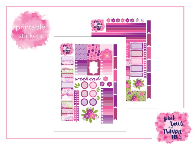 PBTT Berry Bliss Sticker Kit Two Pages