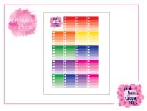 PBTT Classic Multi Ombre Checklist Sticker Sheet